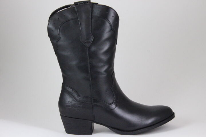 Women's Harley Davidson Mackena Boots Black Leather D83573 Genuine Leather New