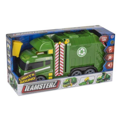 Teamsterz Luz Y Sonido Camión De Basura Reciclaje Camión Wheelie Bin juguete se niegan