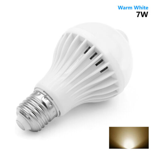 5W 7W 9W E27 PIR Infrared Motion Sensor Bulb Smart Detective Lamp LED Light 3DA