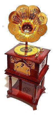 Apprehensive Schöne Xl Nostalgie Grammophone Grammofon Musik Spieluhr Mit Schmuckkästchen Neu Mechanische Musik