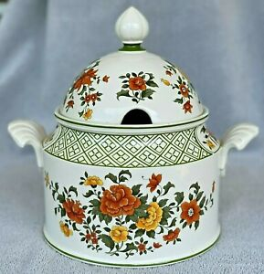 Summer-Day-Bone-China-Soup-Tureen-Villeroy-amp-Boch-Mettlach-Germany-039-83-039-01