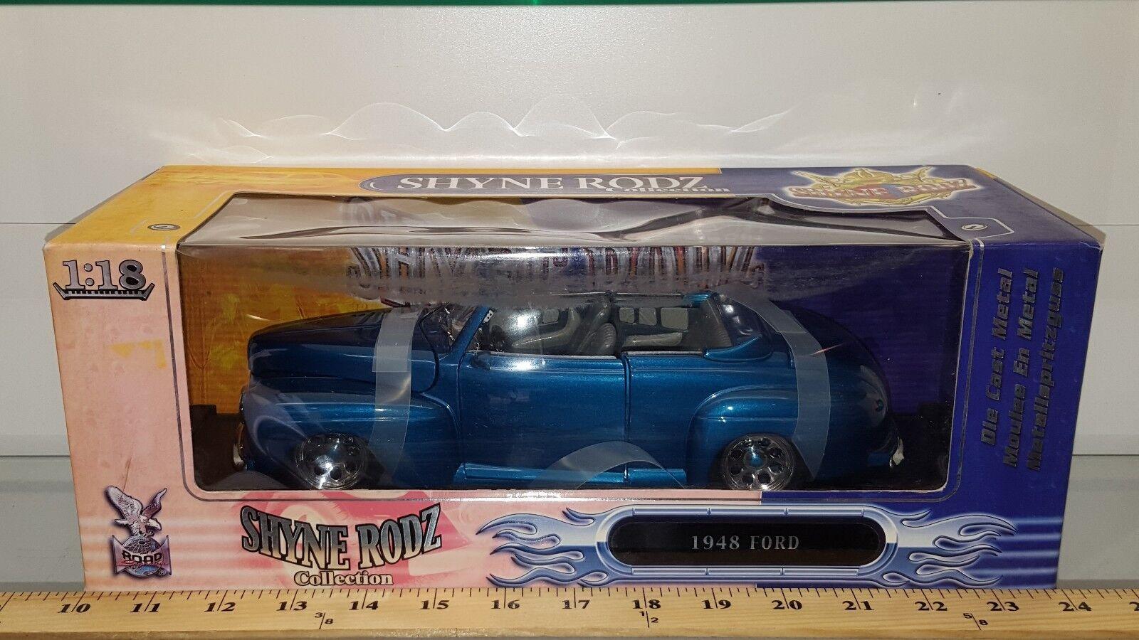 buen precio 1 18 Road Signature Yatming Yatming Yatming SHYNE RODZ 1948 Ford Converdeible verde Azulado pd 2  autorización oficial
