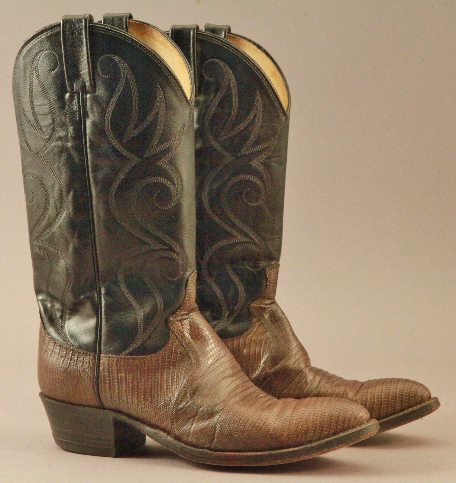 Excellent Vintage Dan Post Lizard Cowboy Cowboy Cowboy Western Stivali Rodeo 8 1/2 D 9237a8