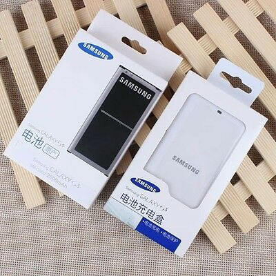 Genuine SAMSUNG Galaxy S5 SM-G900F 2800mAh Battery NFC+Charger NEW in Box