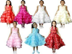 ee8bce0bf Detalles de Flor Niña Vestido de Fiesta Vestido Dama de Honor 3 4 5 6 7 8  Años