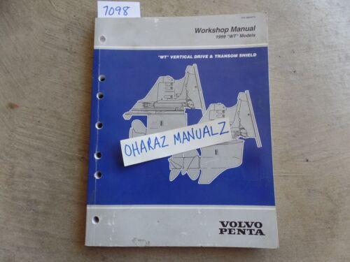 1999 VOLVO PENTA WT Vertical Drive /& Transom Shield Service Manual OEM