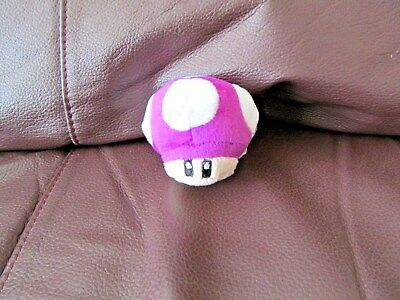 Mario Bros Purple Mushroom Plush Keychain 2 Inches New Ebay