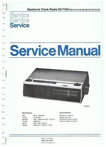 Uhrenradio-Philips-Clockradio-SX-7185-Service-Manual-ca-1981