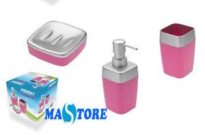 Accessori bagno inox set accessori bagno da appoggio in