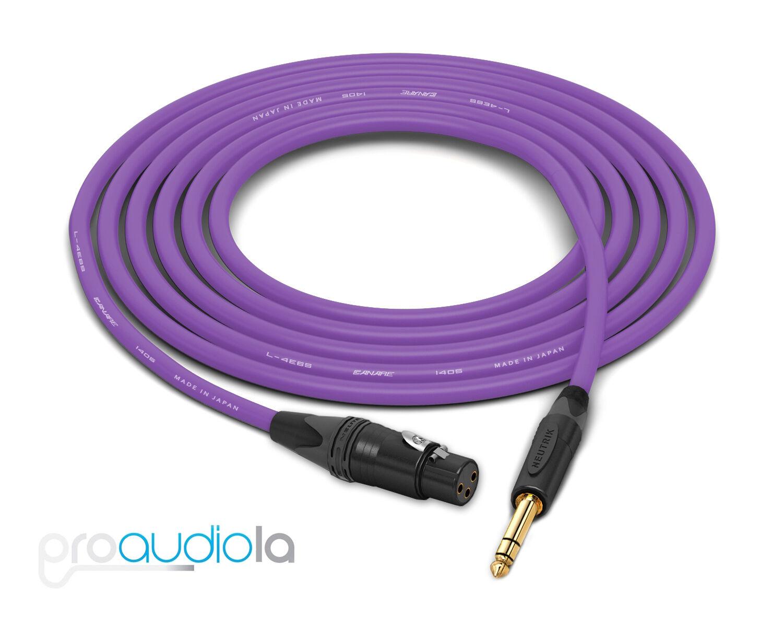 Canare Quad L-4E6S Cable   Neutrik Gold XLR-F to TRS   lila 200 Feet   200 Ft.