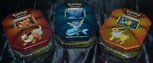 Jolteon-amp-Flareon-amp-Vaporeon-Tins-Pokemon-Trading-Cards-NEW-Factory-Sealed-ALL-3