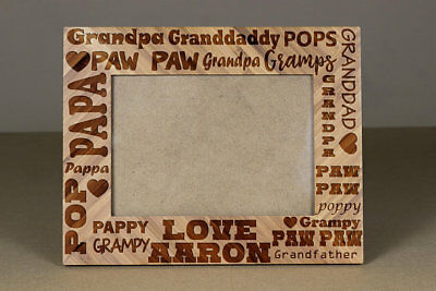 Step-Dad Father/'s day Gift,5x7 Wood Frame Engraved wood Frame,Grandpa gift