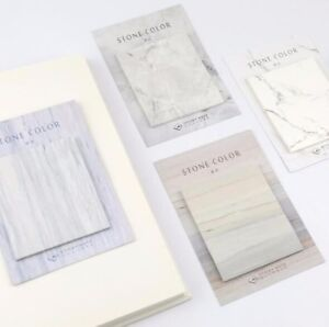 Simple-Stone-Color-Marble-Pattern-Memo-Pads-Sticky-Notes-Bookmark-Paper-Stickers