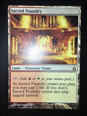 Land Ravnica City of Guilds Mtg Magic Rare 4x x4 4 PLAYED Sacred Foundry