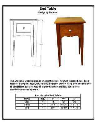 WOODWORKING PLANS - Accent Table with Tapered Legs - WOODWORKING PLANS