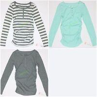Maternity Top Liz Lange Long-sleeve Shirt Women's Henley Xs S Xl Xxl
