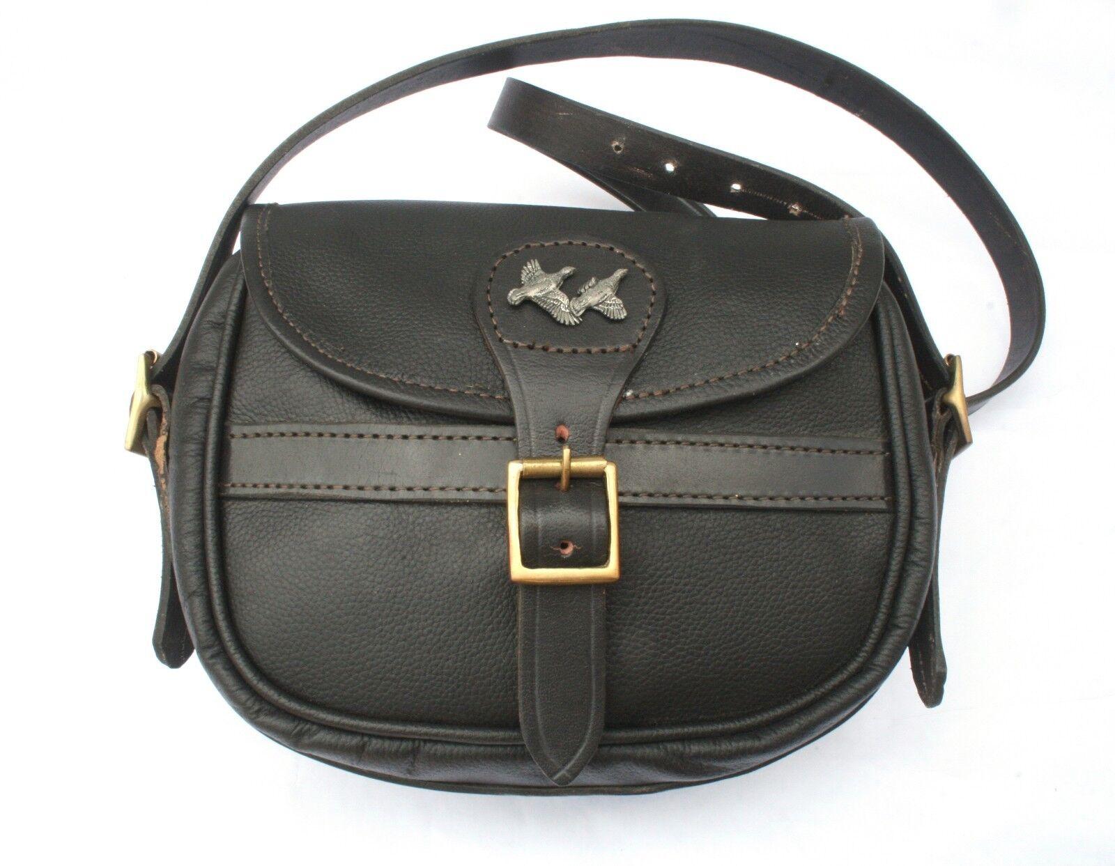 Partridge Leather Cartridge Shooting Bag 75 Capacity Game Shooting Gift