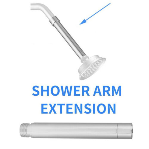 4inch Stainless Steel Extension Tube Handheld Bathroom Shower Head Extender Safe