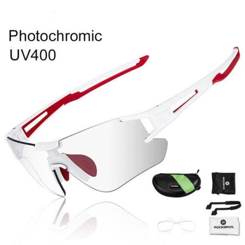 RockBros Cycling Bike Sports Photochromatic Glasses UV400 Goggles Sunglasses