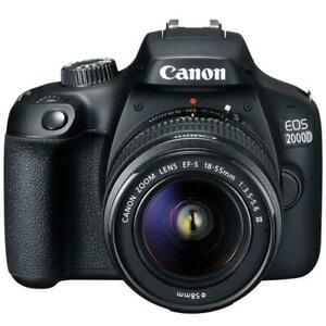 佳能 EOS 2000d/Rebel t7 24.1mp 的 CMOS 1080p 數碼單反相機 + EF-S 18-55mm 鏡頭