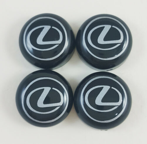 Set of 4 black bolt cover LEXUS decal License Plate Frame Screw Cap car