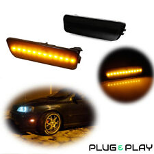 2x For Vw Mk4 Golf Gti R32 Jetta Front Bumper Amber Led Side Marker Lights Lamps