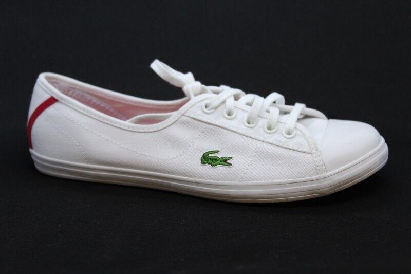 Lacoste ZIANE WTL SPW Ballerina Gr. 37,5 UK 4,5 Sneaker WEISS Canvas