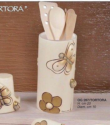 TORTORA in ceramica di Capodimonte OG00287TOR Portautensili cilindro col