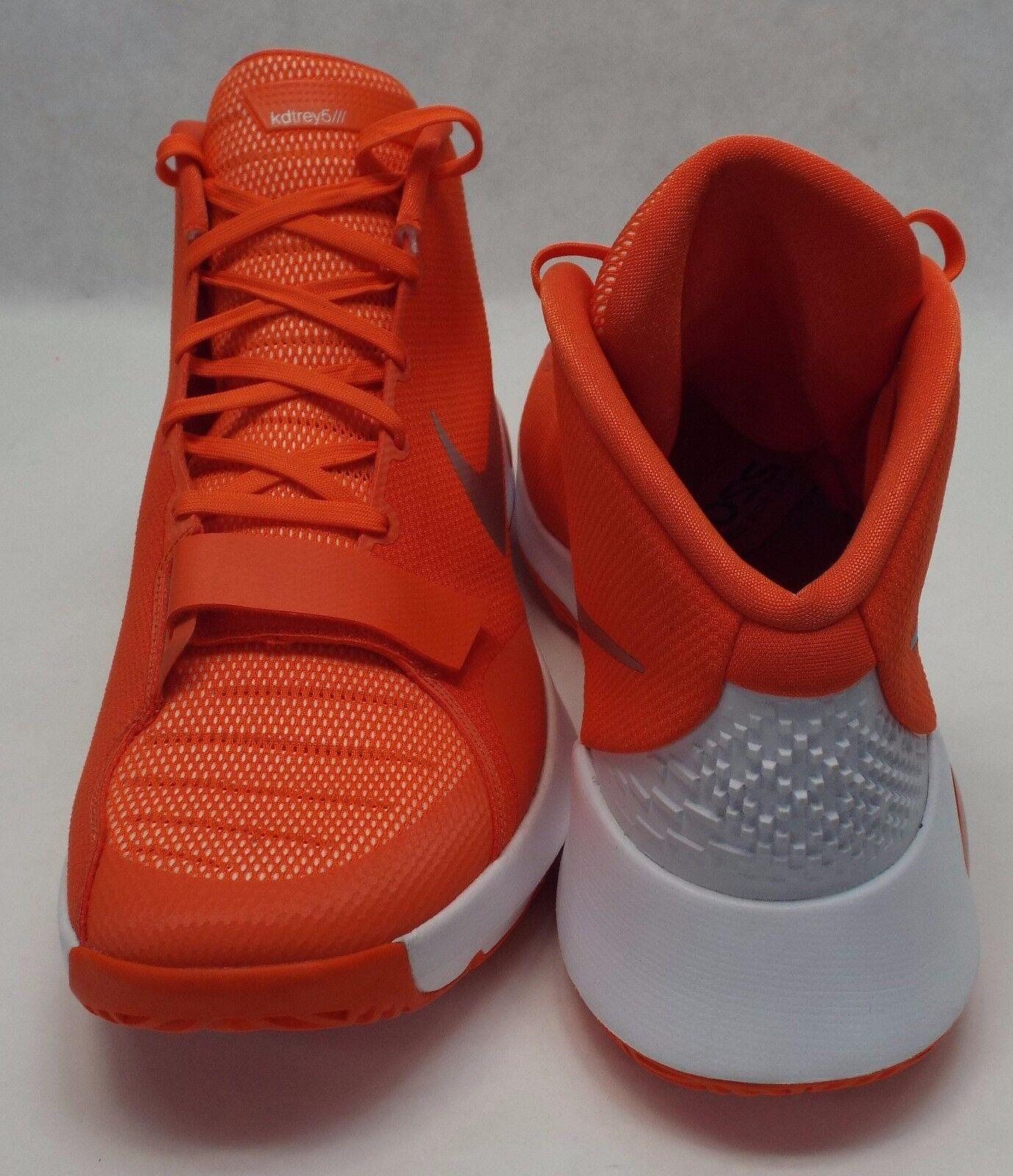 neue männer 18 nike kd trey 3 - orange - weiße basketball - 3 schuhe 150 812950-802 badd29