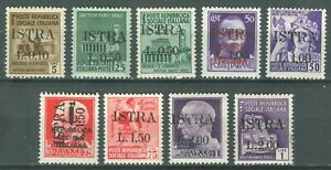 ISTRIA Slovenian Coast 1945 OCCUPATION WWII - ISTRA overprint MI. Ia/Ii MH SET