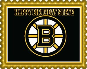 Image Is Loading Boston Bruins Edible Cake Topper OR Cupcake