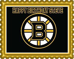 Image Is Loading Boston Bruins Edible Cake Topper OR Cupcake