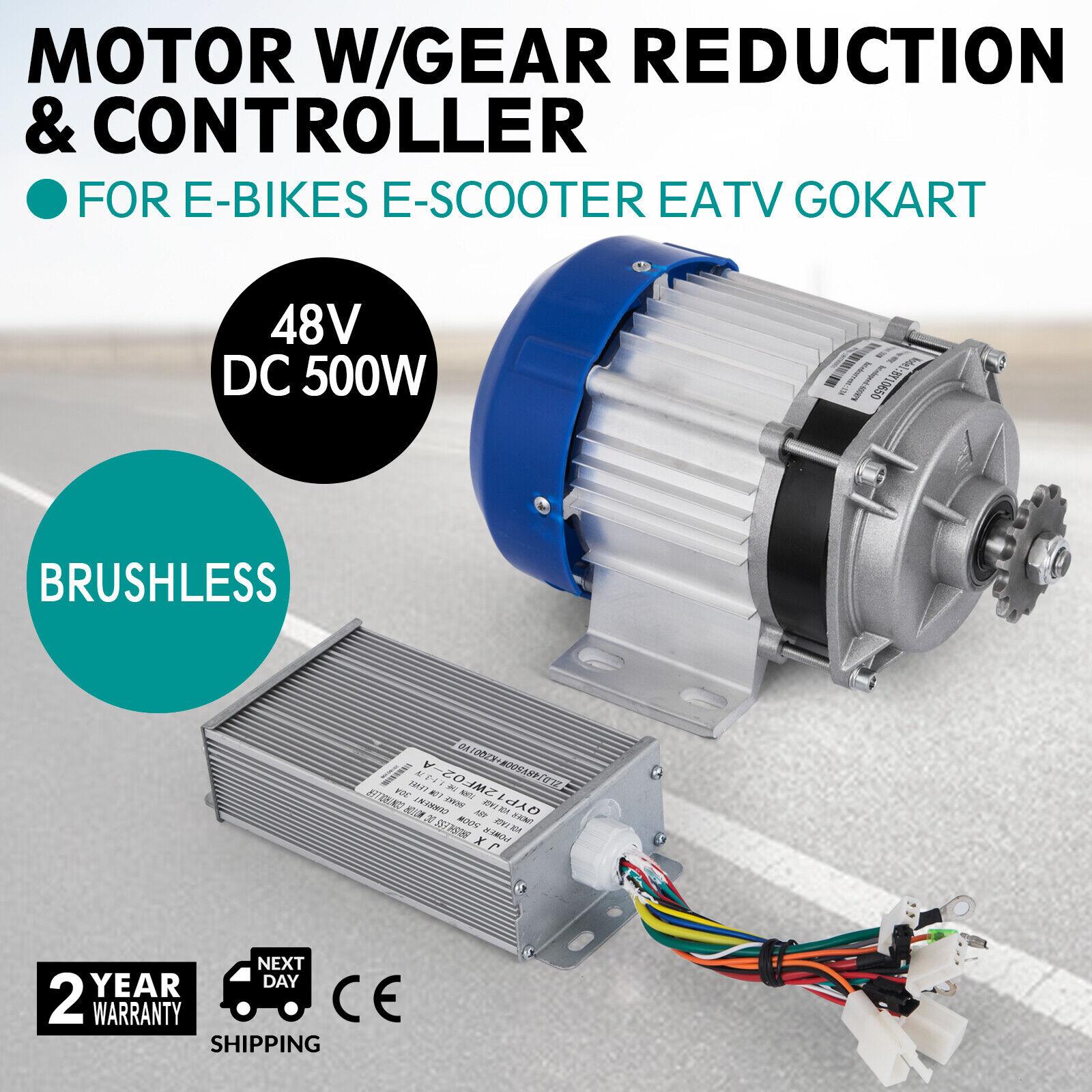 750W watt 48V DC Electric eATV Quad GoKart Brushless Motor DIY Gear Reduction