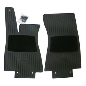 Jaguar Xj 04 09 Rubber Floor Mats Front Black C2c7368 Ebay