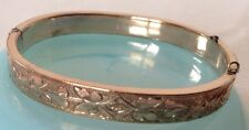 VINTAGE VICTORIAN 12K GOLD FILLED HINGED BRACELET Vb4