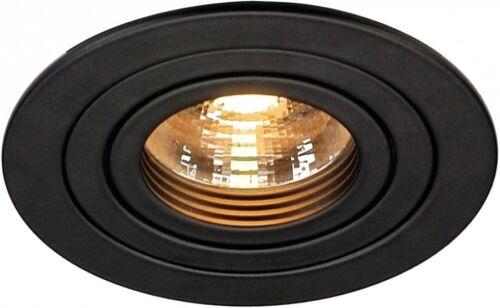 SLV New Tria gu10 Round DEL incl 50 W clip Max noir mat