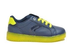 Dettagli su GEOX KOMMODOR sneakers navy scarpe bambino LUCI mod. J745PB