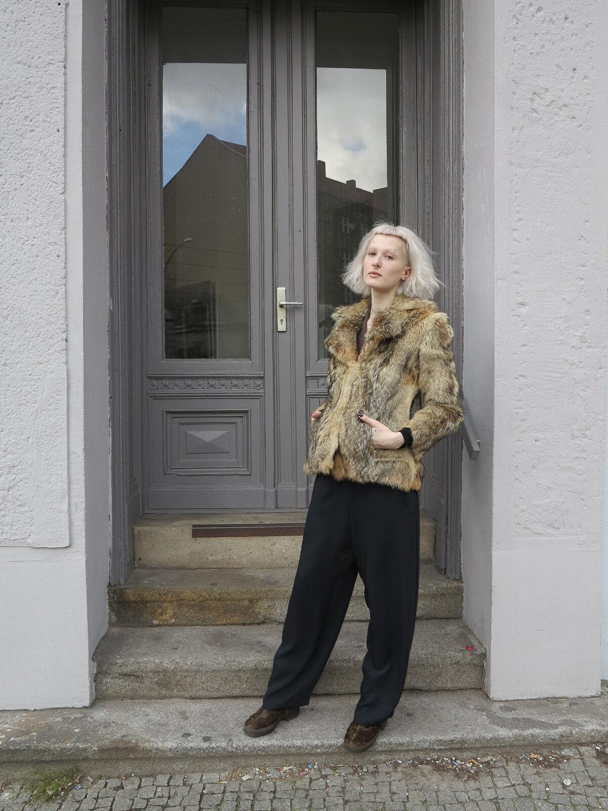 Larghezza nero donna pantaloni 90er True Vintage 90s nero Wide Donna pants