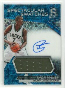 2016-17-Thon-Maker-97-99-Jersey-Auto-Panini-Spectra-Spectacular-Swatches