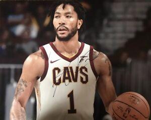 new arrival 42de8 3ddf7 Derrick Rose Cleveland Cavaliers/ Chicago Bulls Signed 11x14 ...