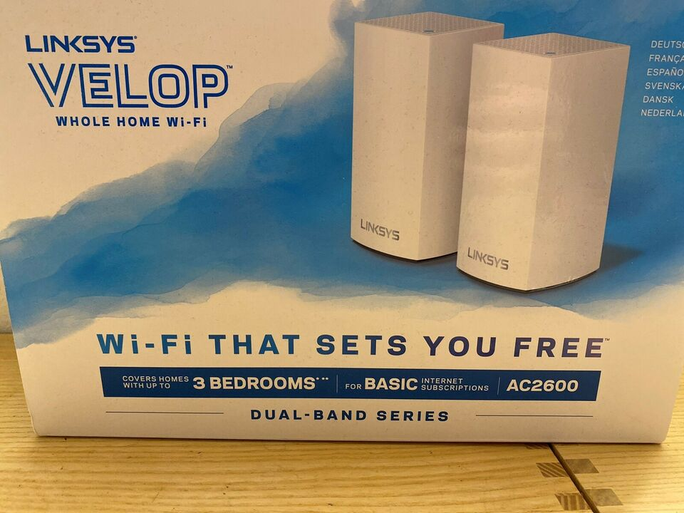 Router, wireless, Linksys velop ac2600