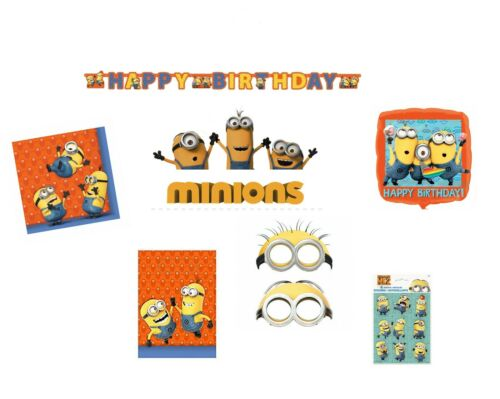 Minions Despicable Me Party Items Decorations Favours