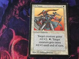 Holy Armor Beta HEAVILY PLD White Common MAGIC THE GATHERING MTG CARD ABUGames