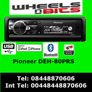pioneer deh 80prs cd mp3 car stereo dual usb aux player. Black Bedroom Furniture Sets. Home Design Ideas