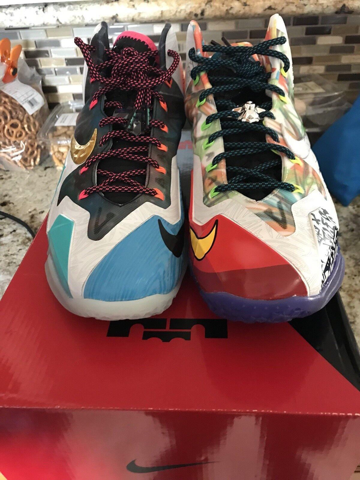 Nike Lebron XI 11 Premium WTL   What The Lebron   QS 650884-400 Size 11 2014 DS