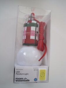 Image Is Loading Red Green Room Essentials Led Pendant Light Free