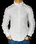 Camicia-Uomo-Slim-Fit-Cotone-Elastico-Manica-Lunga-Tinta-Unita-aderente-BIANCO miniature 2