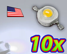 [10x] 1W Cool White High Power LED Lamp Beads 80-110Lm 1 Watt