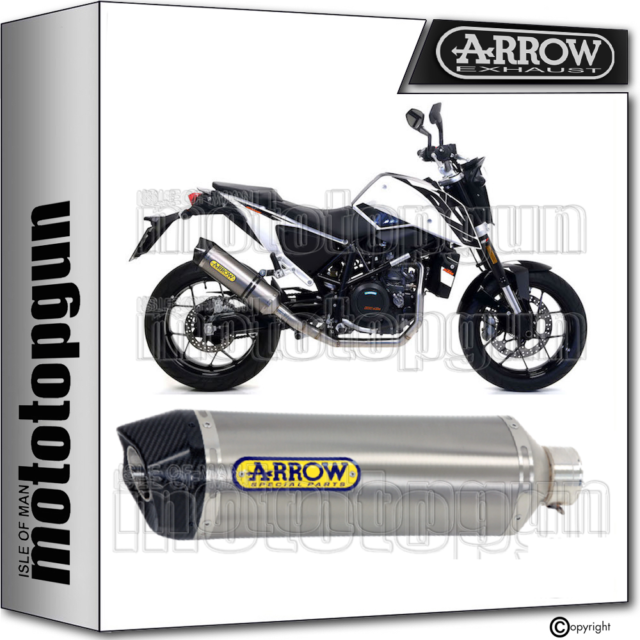 ARROW EXHAUST HOMOLOGATED RACE-TECH CARBY TITANIUM KTM DUKE 690 2018 18