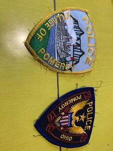 Pomeroy Police Department Patches Ohio Oh Meigs Ebay
